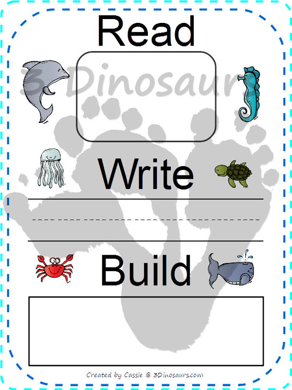 Ocean Themed Sight Word Cards - Dolch Preprimer, Primer, First Grade, Second Grade, Third Grade and Nouns with Read Write Build mats $ - 3Dinosaurs.com