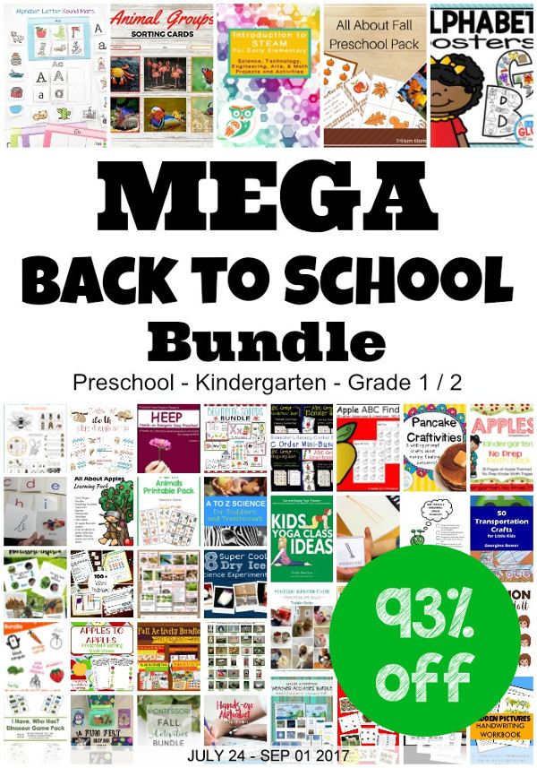 MEGA Back to School Bundle - Over 50 products for $24.95 3Dinosaurs.com