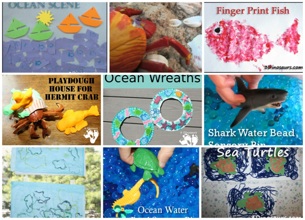 60 + Ocean & Beaches Activities, Printables, Books and and more - 3Dinosaurs.com