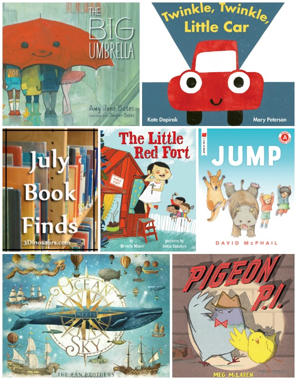 July 2018 Book Finds: easy reader book, bugs, friends, dreams, school, sharing, nursery rhymes, ocean, sky, cars - 3Dinosaurs.com