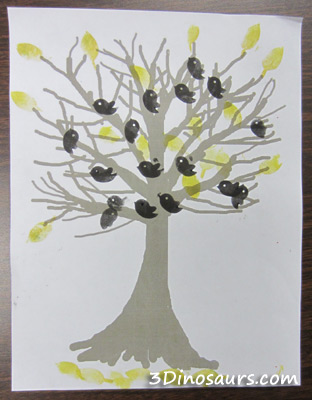 Birds in a Tree Stamping