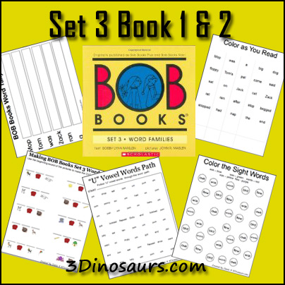 Early Reading Printables: BOB Book Set 3 Book 1 & 2