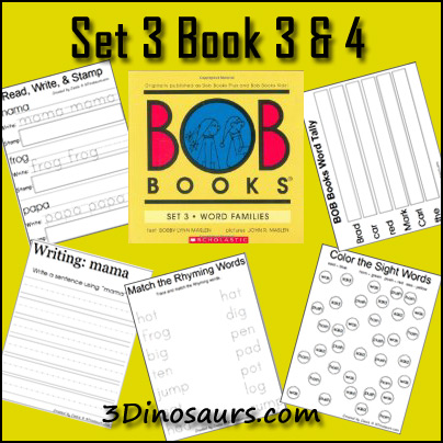 Early Reading Printables: BOB Book Set 3 Book 3 & 4