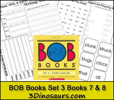 Early Reading Printables BOB Books Set 3 Books 7 & 8