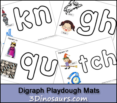 Free Digraph Playdough Mats