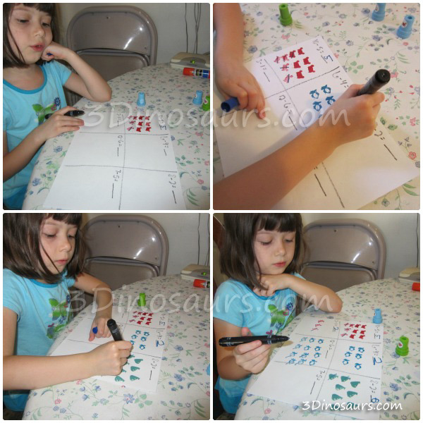 4 Math & Counting Activities With Stamps
