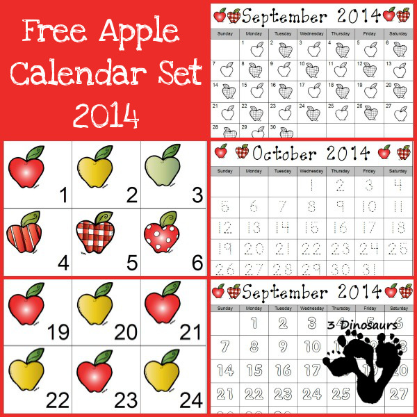 Free 2014 Apple Calendar Set