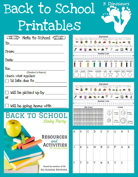 Back to School Printables – Blog Hop & Giveaway!