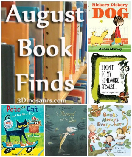 Book Finds August 2014: Pete the Cat, ABCs, Books, Mermaids, School - 3Dinosaurs.com