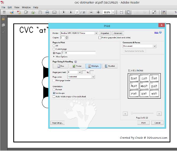 Q-Tip Fine Motor CVC Words - 3Dinosaurs.com