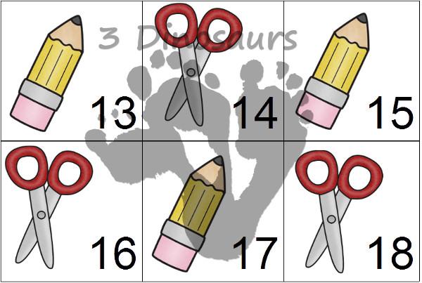 Free School Calendar Set Printables  - 3Dinosaurs.com