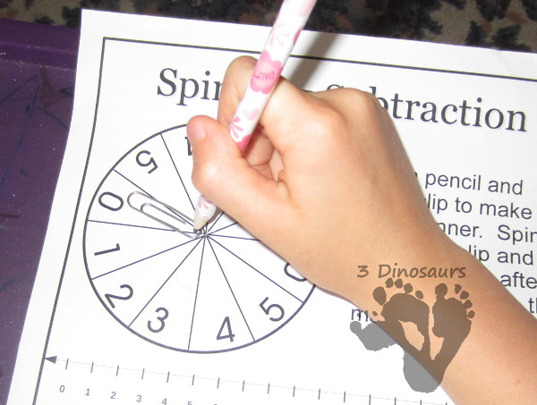 Spinning Subtraction: Ways to Subtract 1 to 10 - 3Dinosaurs.com