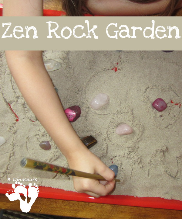 Rock Zen Garden - easy fine motor and calm down activity - 3Dinosaurs.com