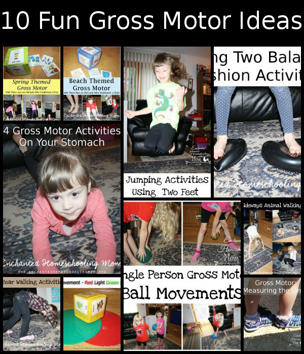 10 Fun Gross Motor Ideas -Blog Hop for Jill @ Enchanted Homeschooling Mom - 3Dinosaurs.com