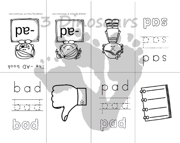 New CVC Word Family Small Books Short A – Am Word Family Worksheets