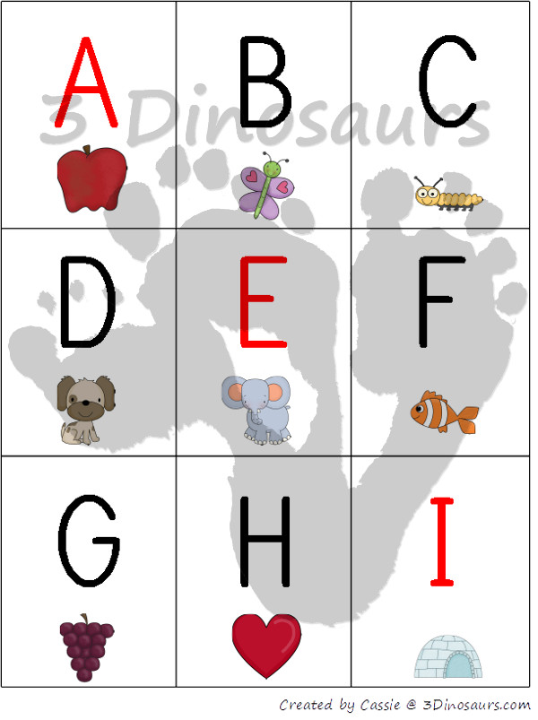 Free ABC Cards with to types - 3Dinosaurs.com