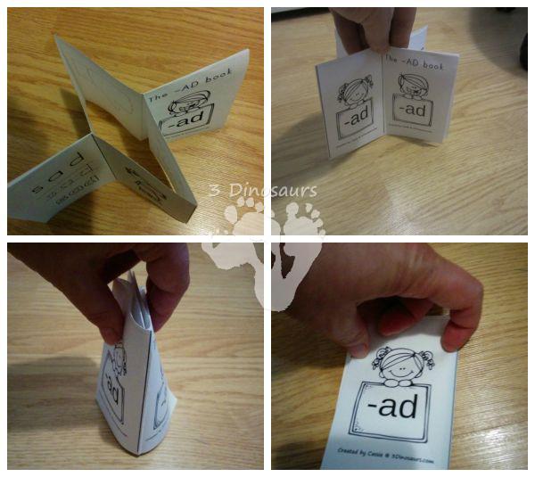 Using Printables: How to Make the Small Book - 3Dinosaurs.com
