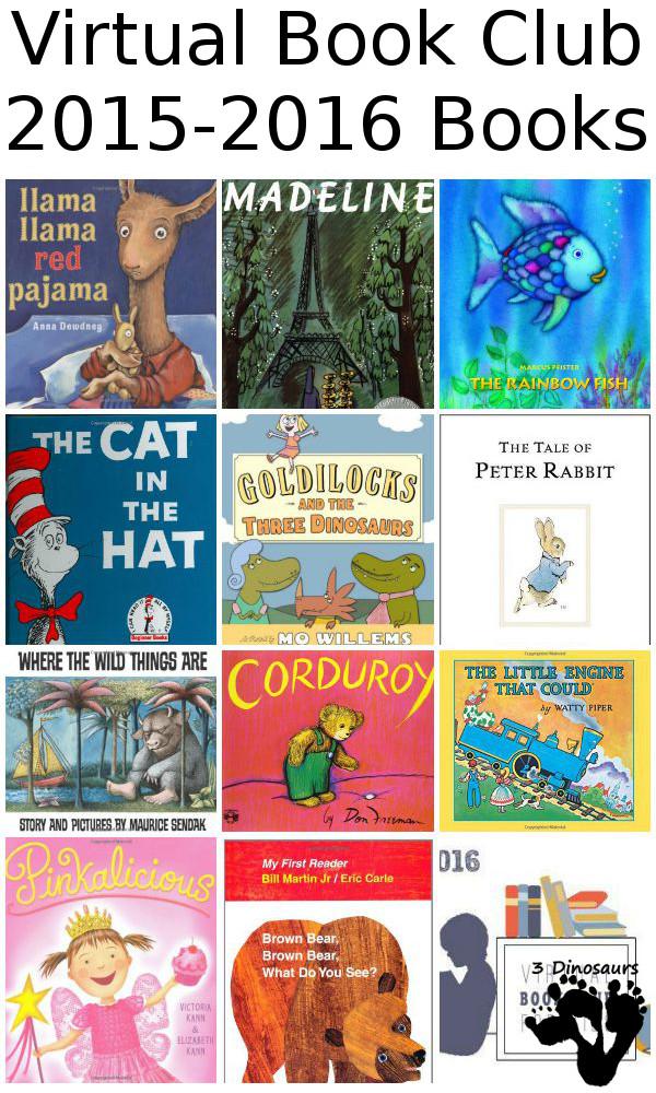 Virtual Book Club for Kids 2015-2016 Books - 3Dinosaurs.com