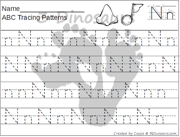 Abc tracing patterns 3 dinosaurs abc tracing patterns 26 page no prep printable 3dinosaurs altavistaventures Choice Image