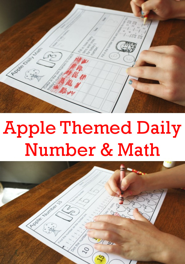 Apple Daily Number & Math For the Fall - flashcards for addition & subtraction, math fact house, no-prep printables $ - 3Dinosaurs.com