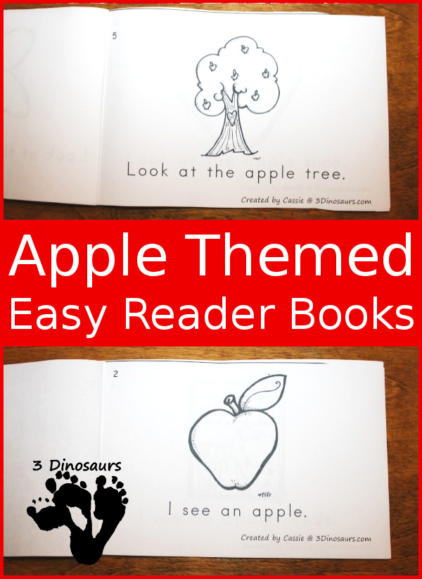Apple Easy Reader Books: 4 books to pick from $ - 3Dinosaurs.com