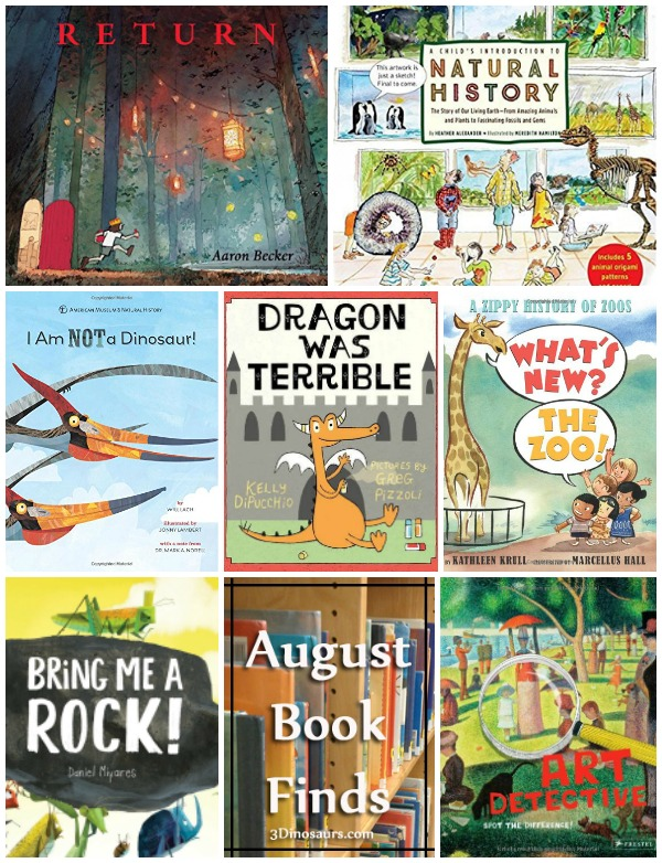 August 2016 Book Finds: history, dragons, wordless books, zoos, bugs, art works  - 3Dinosaurs.com