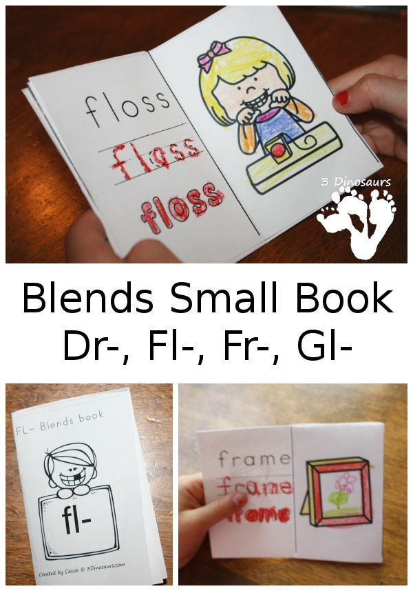 Free Blends Small Book: Dr-, Fl-, Fr-, Gl- - 3Dinosaurs.com