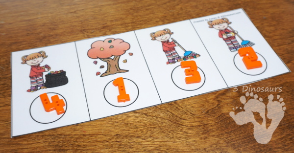 Sequencing Cards Set for Fall - 6 different sets with clip cards, task cards, no-prep worksheets and easy reader books $ - 3Dinosaurs.com