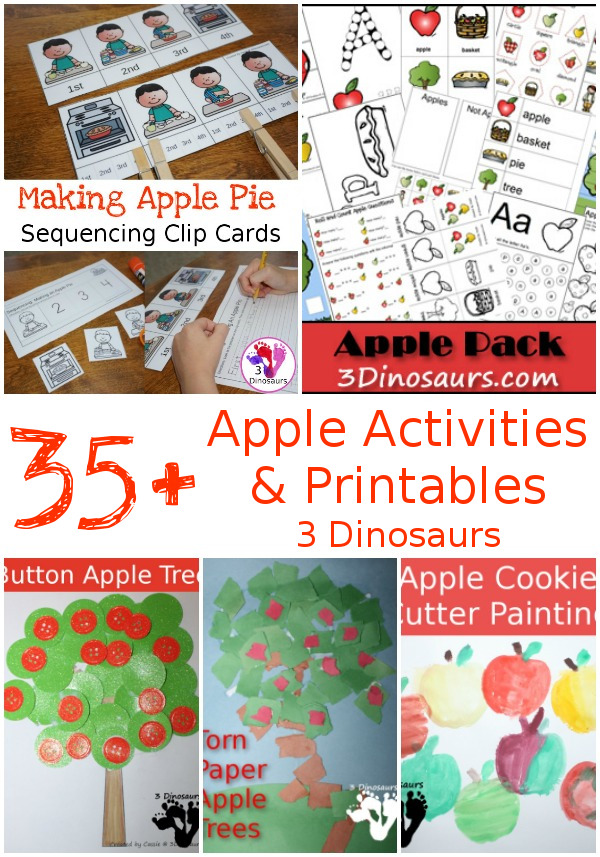 35+ Apple Activities & Printables - 3Dinosaurs.com