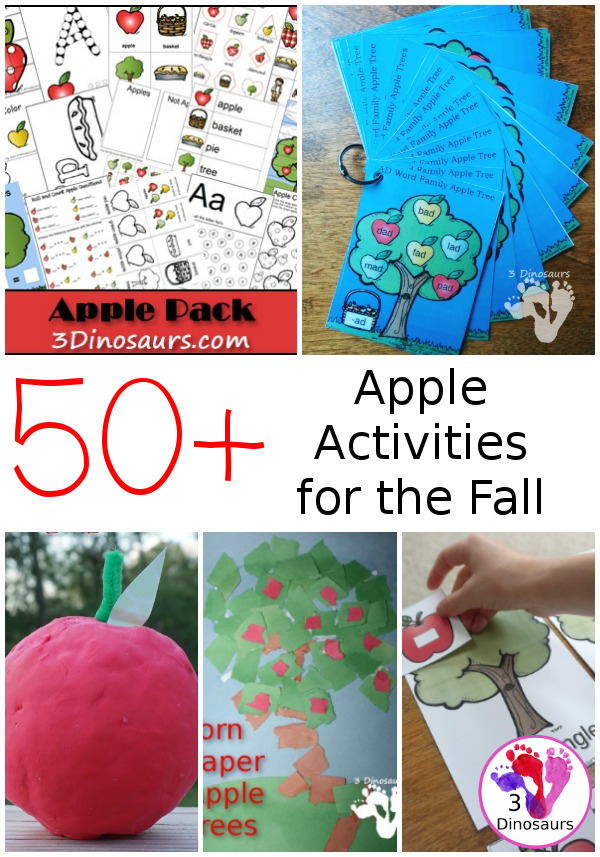 Apple Activities from 3 Dinosaurs