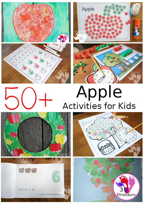 Apple Activities & Printables - 3Dinosaurs.com