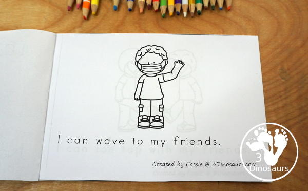 Free I Can Greet My Friends Easy Reader Book - a back to school easy reader book for 2020 with 8 page book - 3Dinosaurs.com