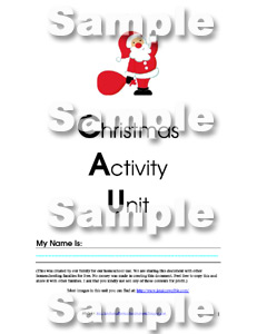 Christmas Activity Unit by Enchanted Homeschooling Mom
