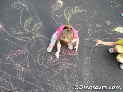 Fall Chalk Art