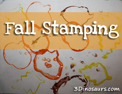 Fall Stamping with cookie cutters
