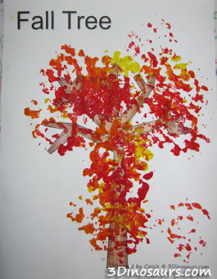 Scrubber Painted Fall Tree
