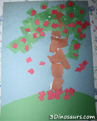 Torn Paper Apple Trees