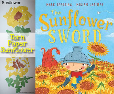 The Sunflower Sword: Torn Paper Sunflower