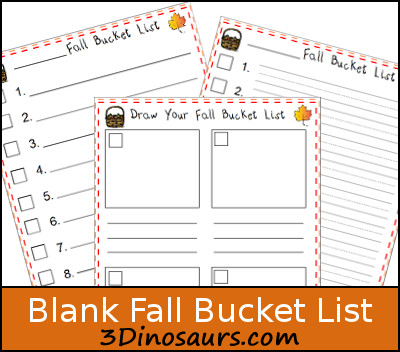 Free Blank Fall Bucket List