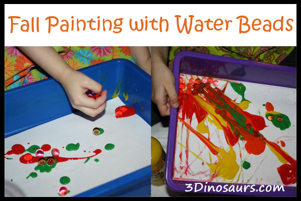 Fall Painting with Water Beads