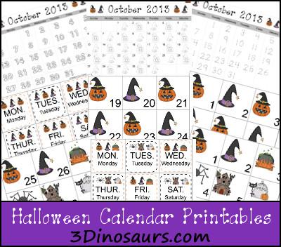 Halloween Calendar
