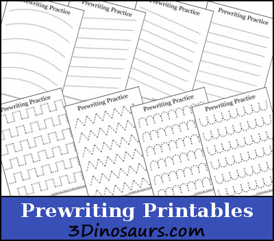 Free Prewriting Practice Printables