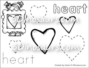 heart shaped coloring pages. New Shape Coloring Pages  3 Dinosaurs