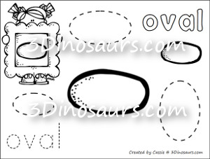 Shape Coloring Pages 3 Dinosaurs