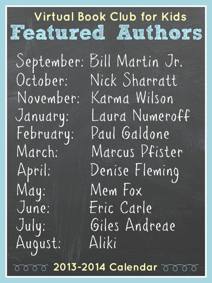 Virtual Book Club 2013-2014 Author List