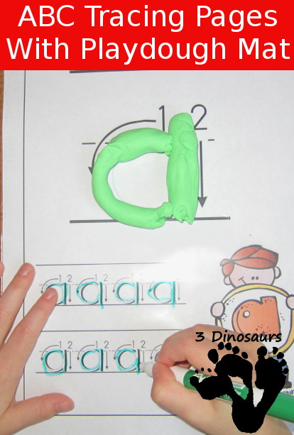 New Free ABC Tracing Pages Lowercase - 3Dinosaurs.com