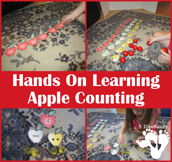 Hands On Learning: Apple Counting - 3Dinosaurs.com