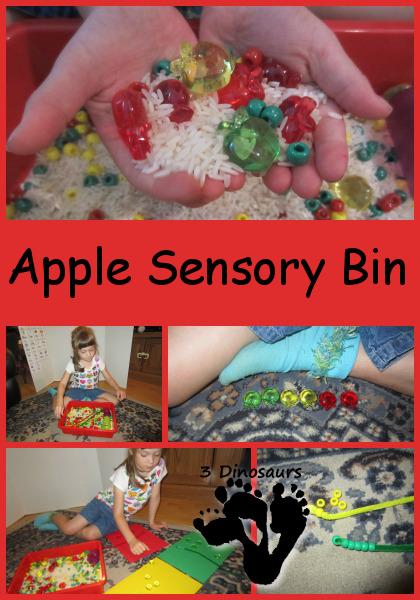 Apple Sensory Bin - 3Dinosaurs.com