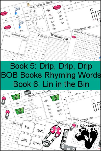 Early Reading Printables: BOB Books Rhyming Words Books 5 & 6