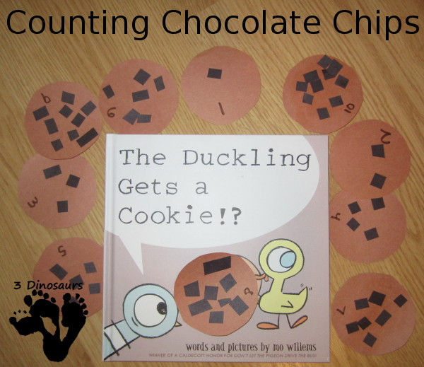 Counting Chocolate Chips - Duckling Get a Cookie - 3Dinosaurs.com